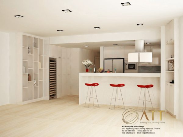 Tủ bếp Acylic - ATT-TB02